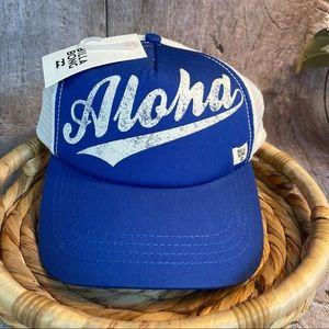 NWT Billabong Blue Aloha Trucker Hat